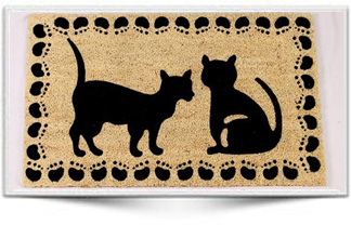 CAT DESIGN RUBBER BACKED MAT